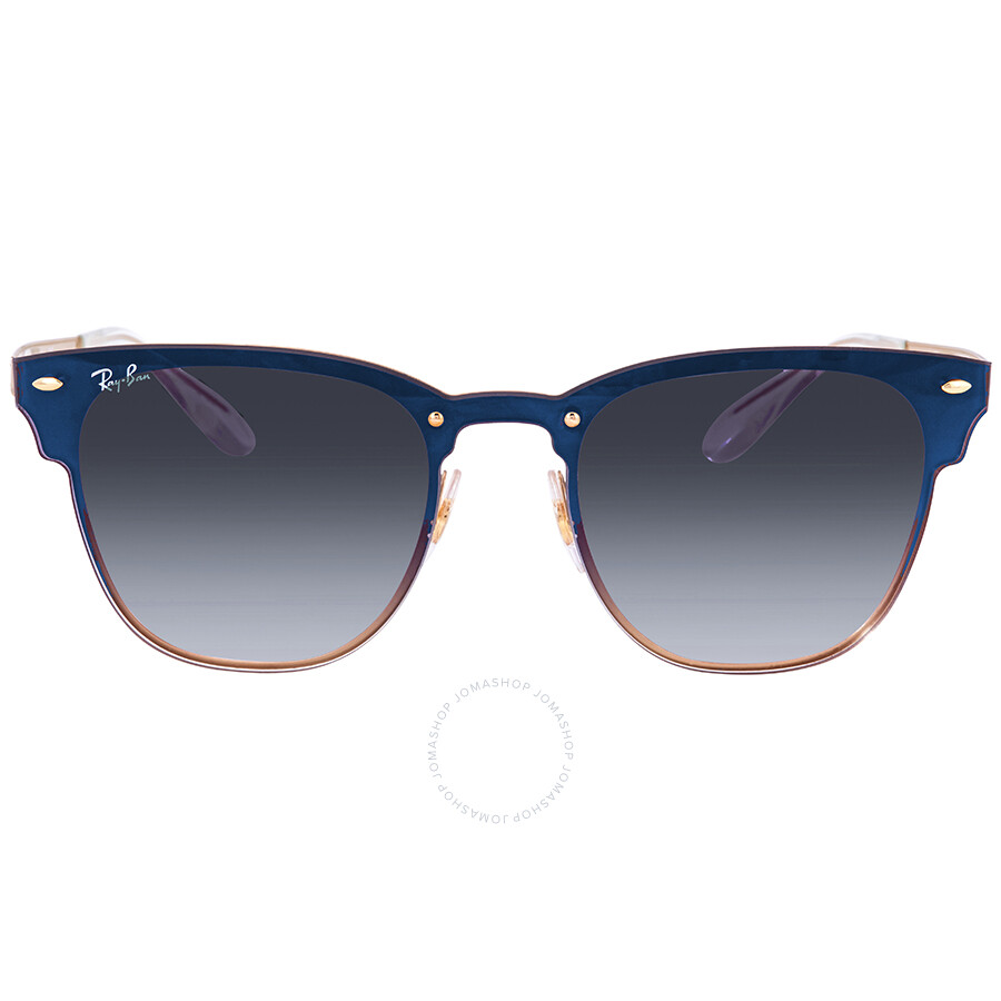 8d15952220a ... Ray Ban Blaze Clubmaster Blue Gradient Mirror Square Sunglasses RB3576N  043 X0 41 ...