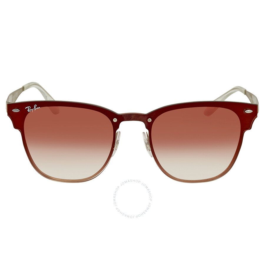 bb037dc65dc ... Ray Ban Blaze Clubmaster Red Gradient Mirror Sunglasses RB3576N 9039V0  41 ...