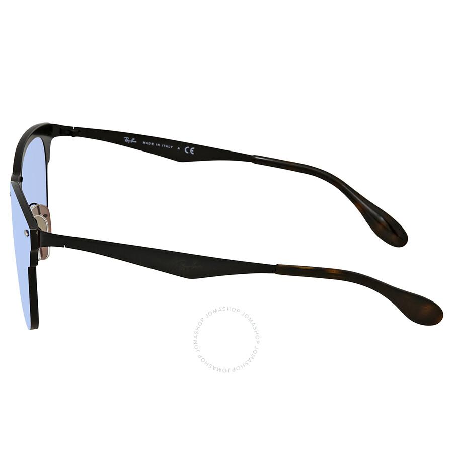 1f56f0a3b88 ... Ray Ban Blaze Clubmaster Violet Blue Mirror Square Sunglasses RB3576N  153 7V 41