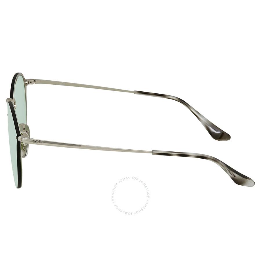76de154bd1 ... Ray Ban Blaze Dark Green Silver Mirror Round Sunglasses RB3574N 003 30  59
