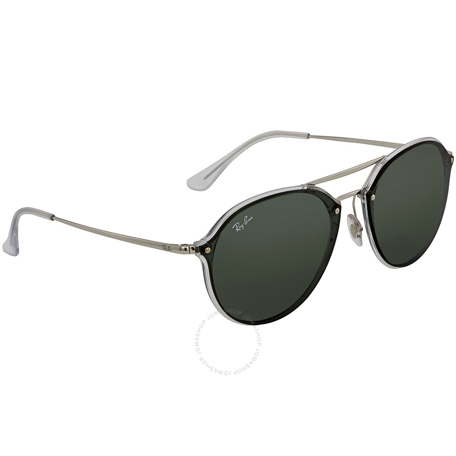 e0c7f99b77 Ray Ban Blaze Double Bridge Green Classic Round Sunglasses RB4292N 632571  62 ...
