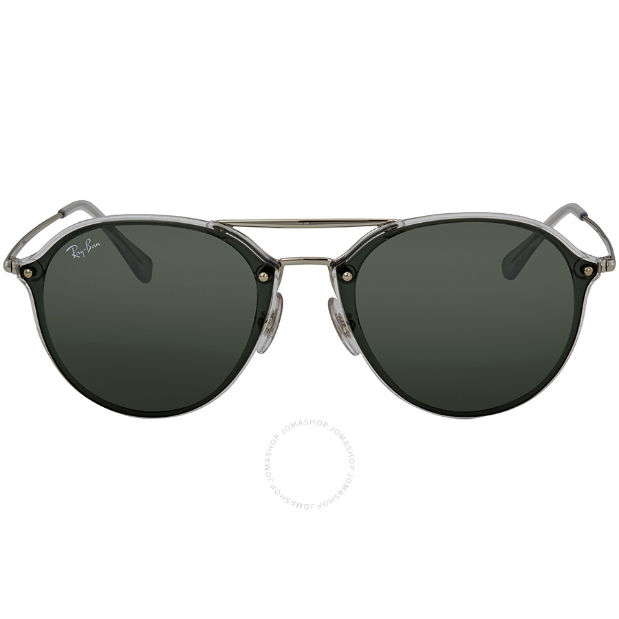 baa3c446f7 ... Ray Ban Blaze Double Bridge Green Classic Round Sunglasses RB4292N  632571 62 ...