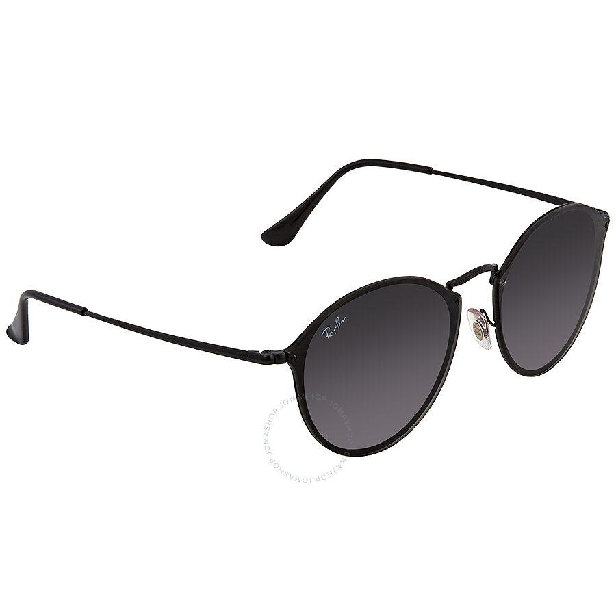 bd6095cfbe6 Ray Ban Blaze Grey Gradient Dark Grey Round Sunglasses RB3574N 153 11 59 ...