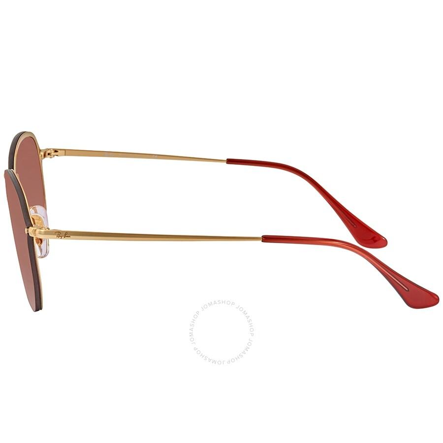 7a60cc523 ... Ray Ban Blaze Hexagonal Dark Red Gradient Mirror Aviator Unisex  Sunglasses RB3579N91400T58