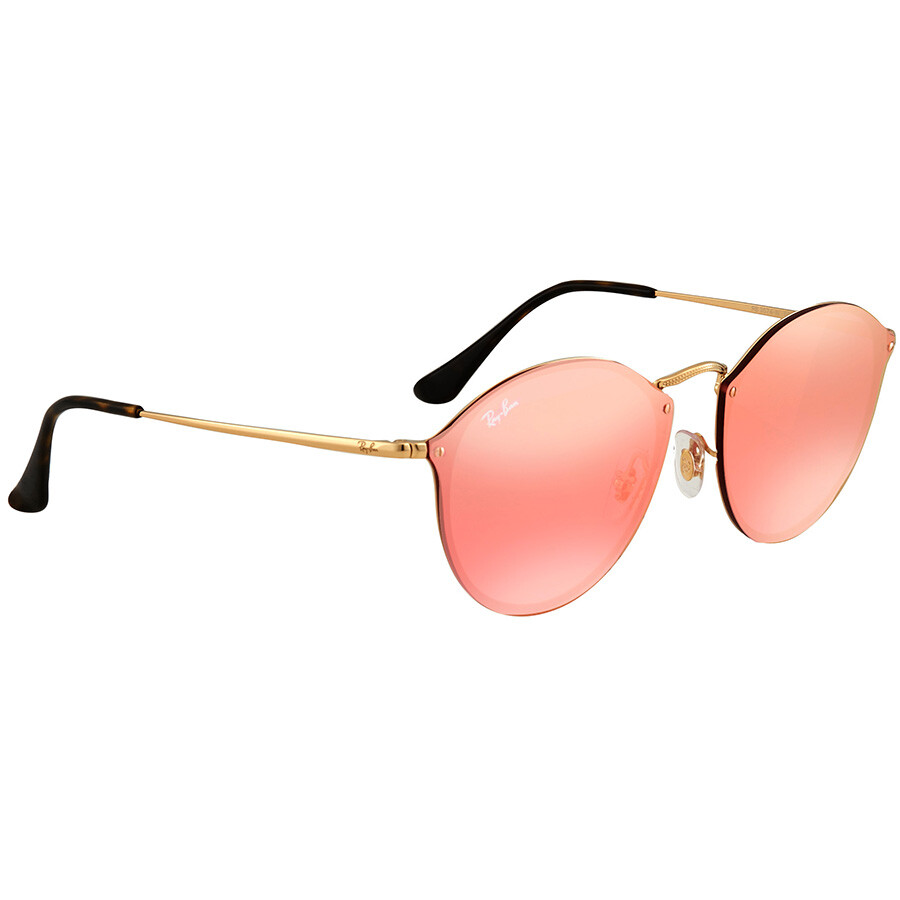 deb1961ad4 Ray Ban Blaze Pink Mirror Round Sunglasses RB3574N 001 E4 59 - Round ...
