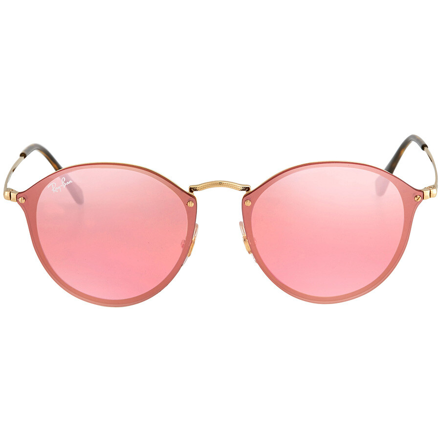 58a5e4c97a391 Ray Ban Blaze Pink Mirror Round Sunglasses RB3574N 001 E4 59 - Round ...