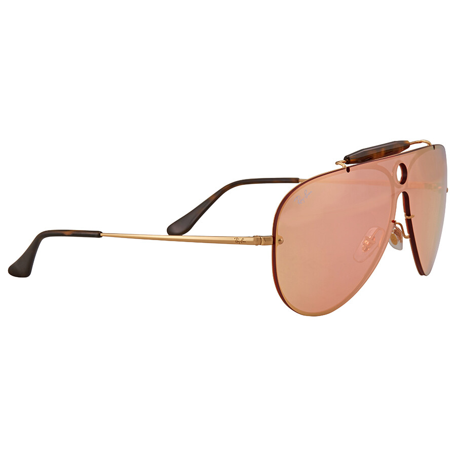 bc96fcebd8 Ray Ban Blaze Shooter Pink Mirror Sunglasses RB3581N 001 E4 32 - Ray ...