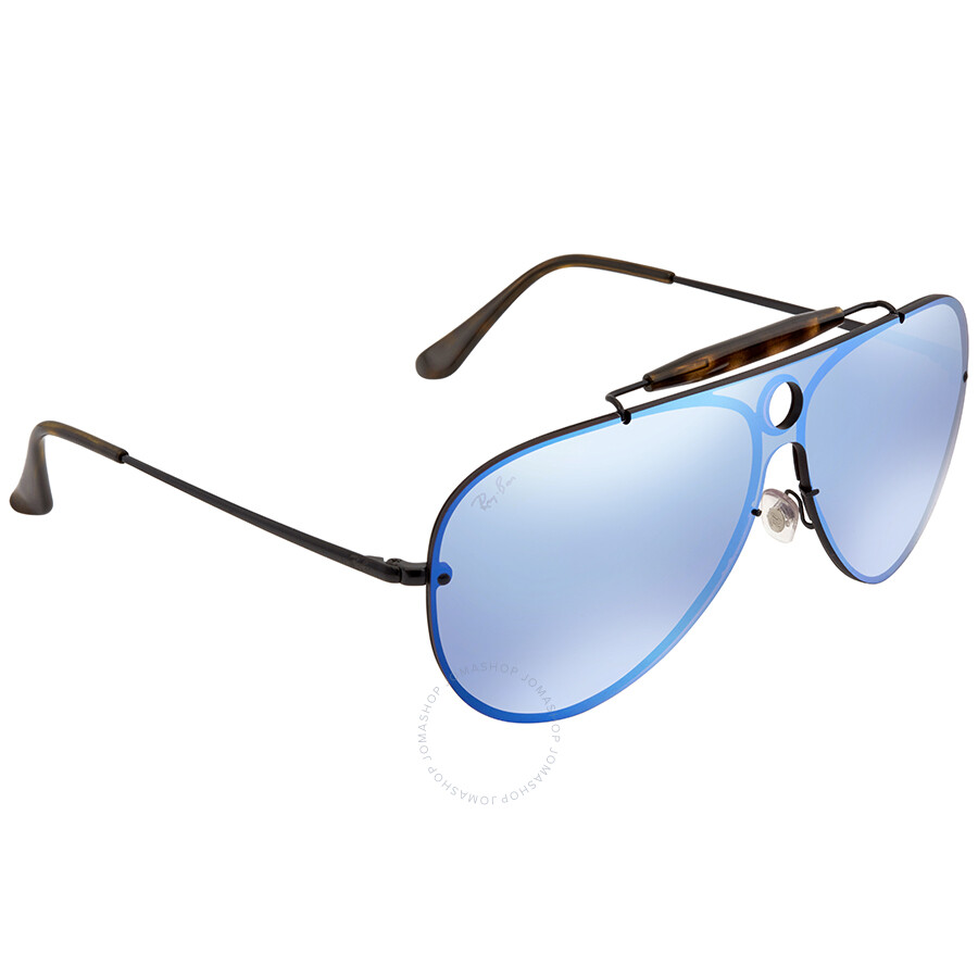 67548b228c Ray Ban Blaze Shooter Violet Blue Mirror Aviator Sunglasses RB3581N 153 7V  32 ...