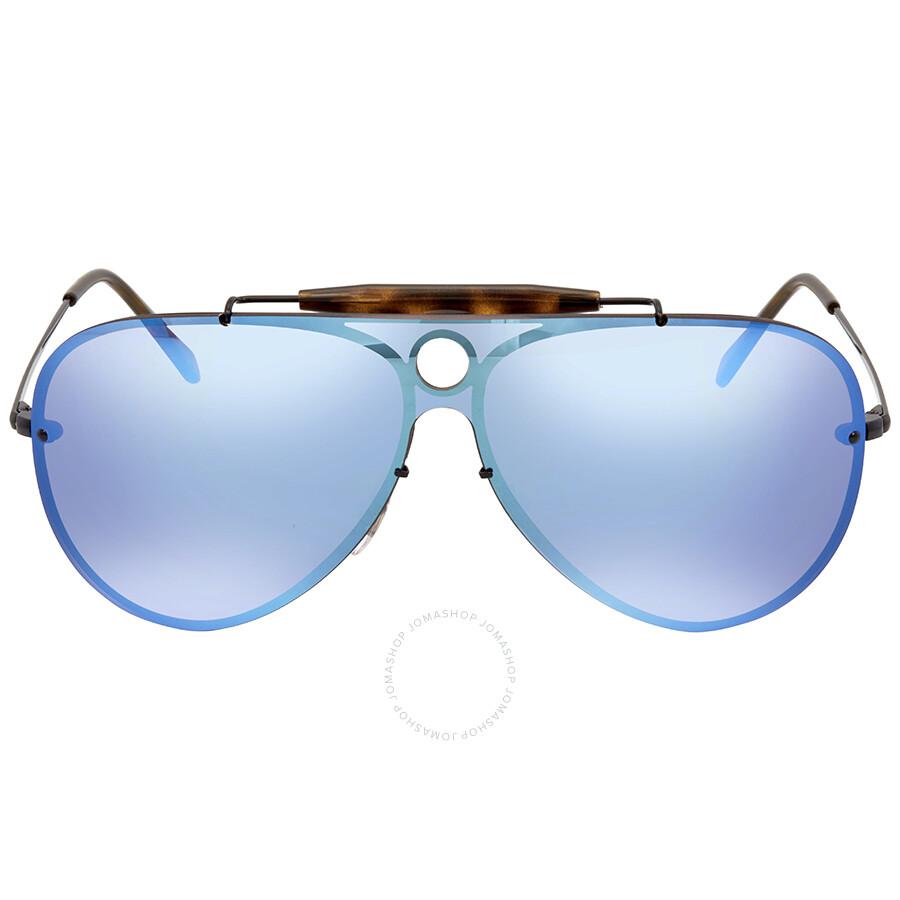 9a79b29077 ... Ray Ban Blaze Shooter Violet Blue Mirror Aviator Sunglasses RB3581N  153 7V 32 ...