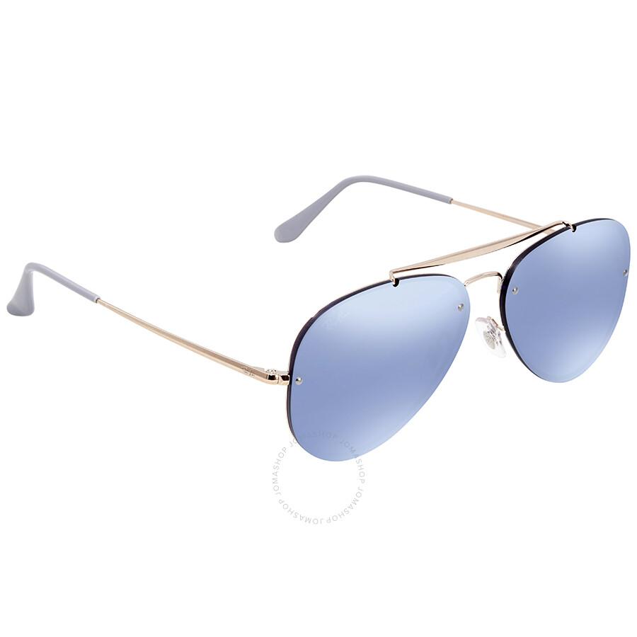 d97de27ec6 Ray Ban Blaze Violet Mirror Aviator Sunglasses RB3584N 90531U 58 ...