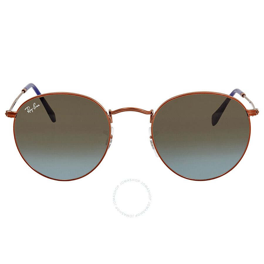 a017f53a1b0 Ray Ban Blue Brown Gradient Round Men s Sunglasses RB3447 900396 50 ...
