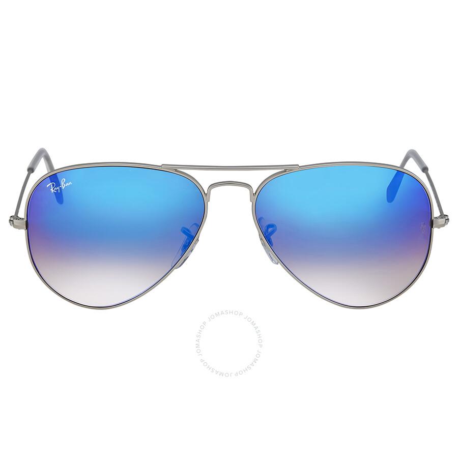 ddf2830c92064 Ray Ban Blue Gradient Flash Aviator Sunglasses Item No. RB3025 019 8B 58