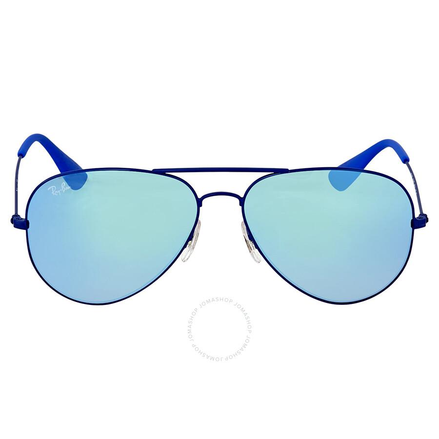 b4f8a42696a Ray Ban Blue Gradient Flash Aviator Sunglasses Item No. RB3558 9016B7 58
