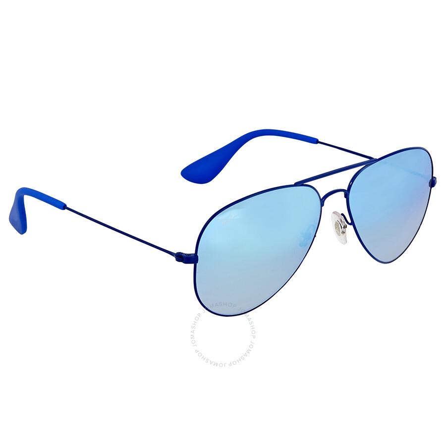 009e40e7f4 Ray Ban Blue Gradient Flash Aviator Sunglasses - Aviator - Ray-Ban ...