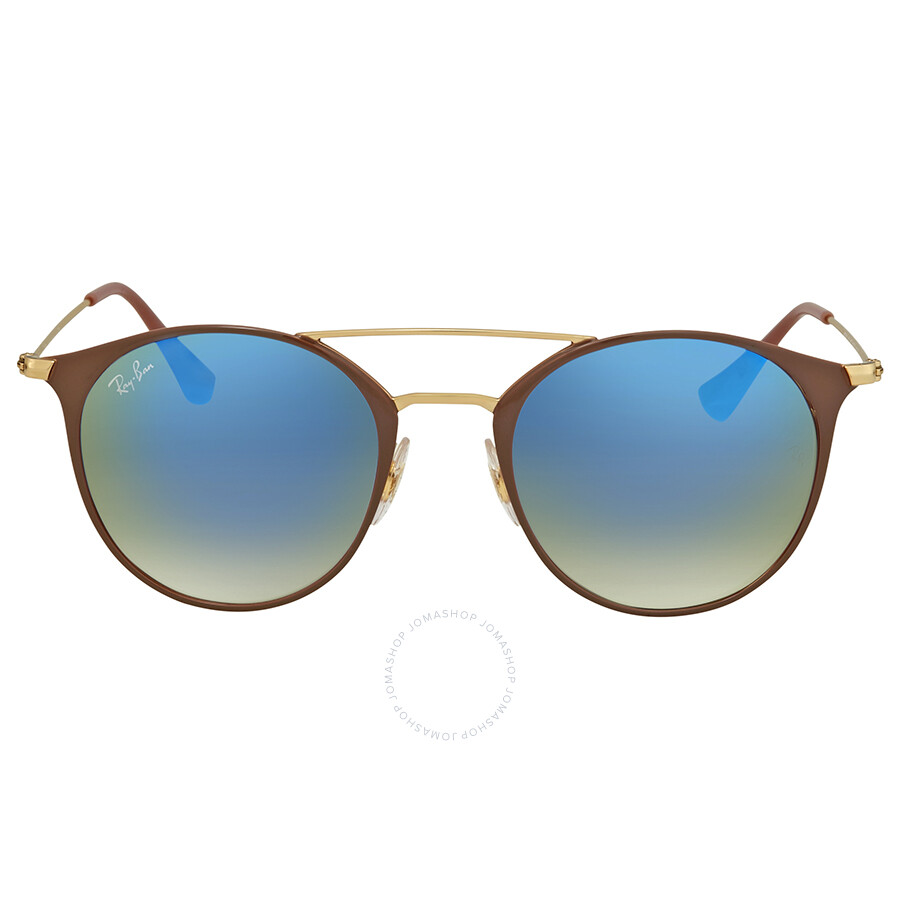 1113ff6a15 ... Ray Ban Blue Gradient Flash Round Sunglasses RB3546 90118B 49 ...