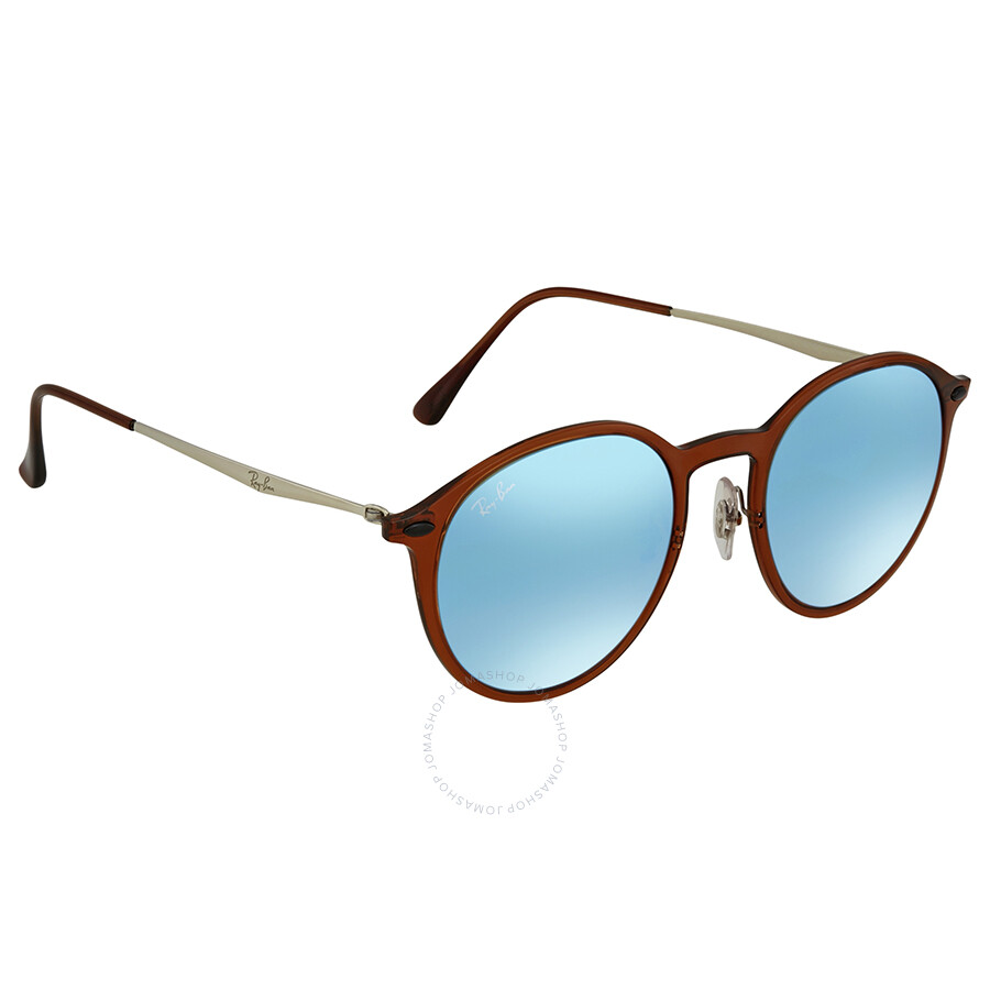bcc293ec71 Ray Ban Blue Gradient Flash Round Sunglasses RB4224 604 B7 49 ...