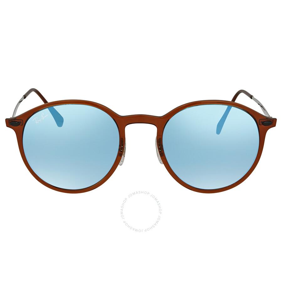 ebda6bd7a0 ... Ray Ban Blue Gradient Flash Round Sunglasses RB4224 604 B7 49 ...