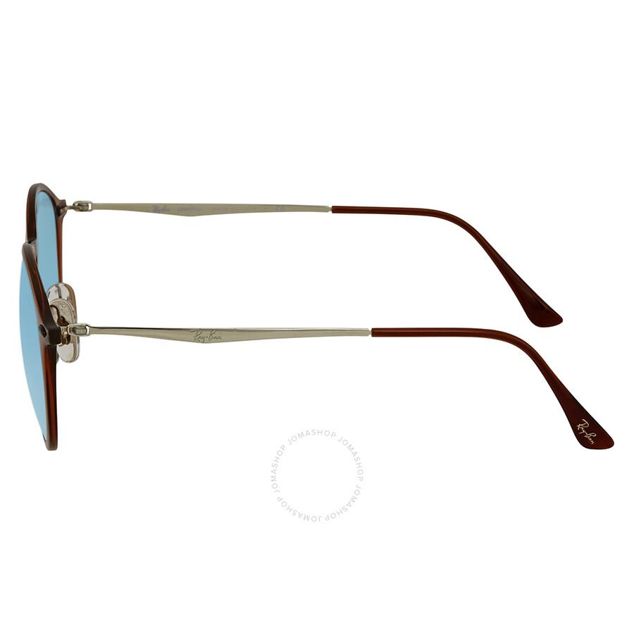 5cb3dd8010 Ray Ban Blue Gradient Flash Round Sunglasses RB4224 604 B7 49 ...