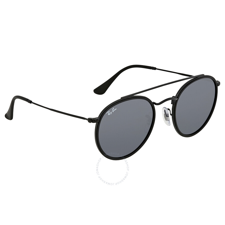5cc9815a41 Ray Ban Blue Gray Classic Round Sunglasses RB3647N 002 R5 51 - Round ...
