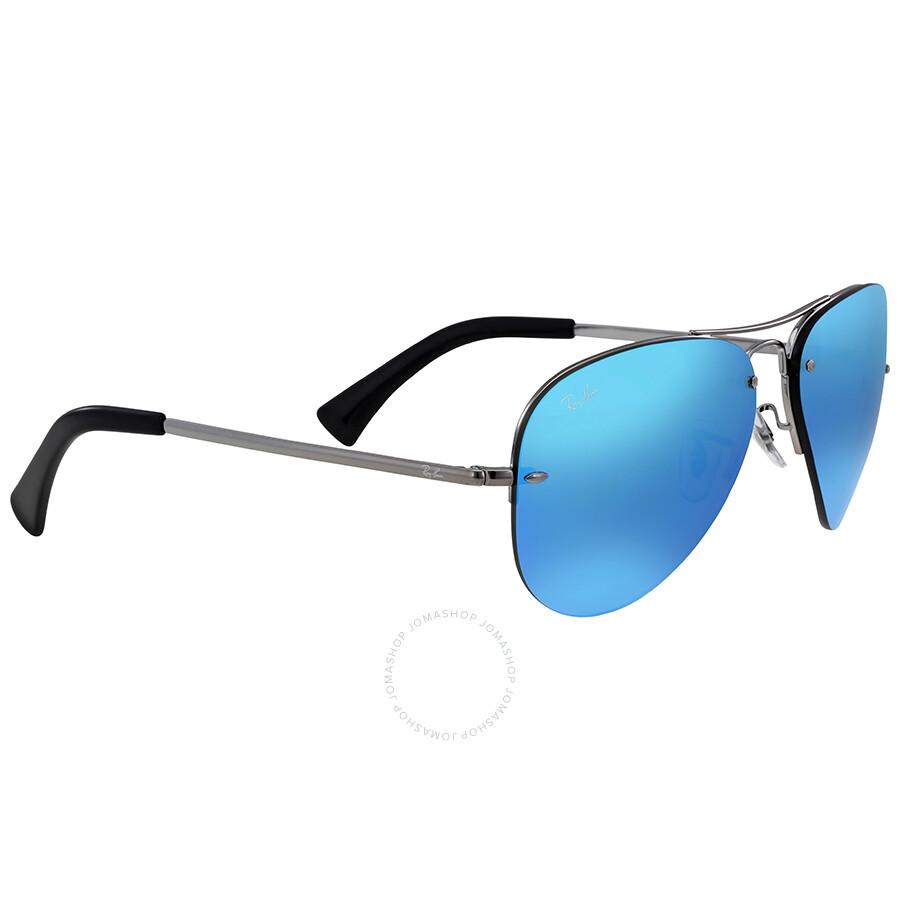 ray ban blue mirror aviator sunglasses aviator ray ban sunglasses jomashop. Black Bedroom Furniture Sets. Home Design Ideas