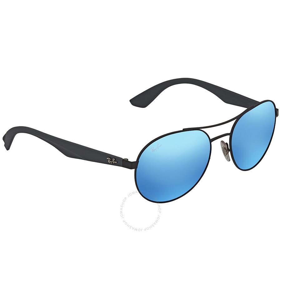 d4ebff93e3 Ray Ban Blue Mirror Aviator Sunglasses RB3536 006 55 55 - Aviator ...