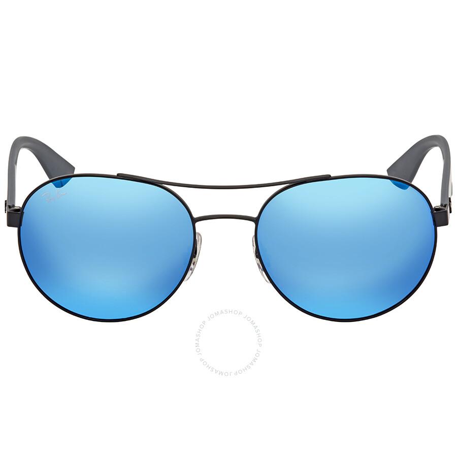 4e5c4a62a2b Ray Ban Blue Mirror Aviator Sunglasses RB3536 006 55 55 - Aviator ...