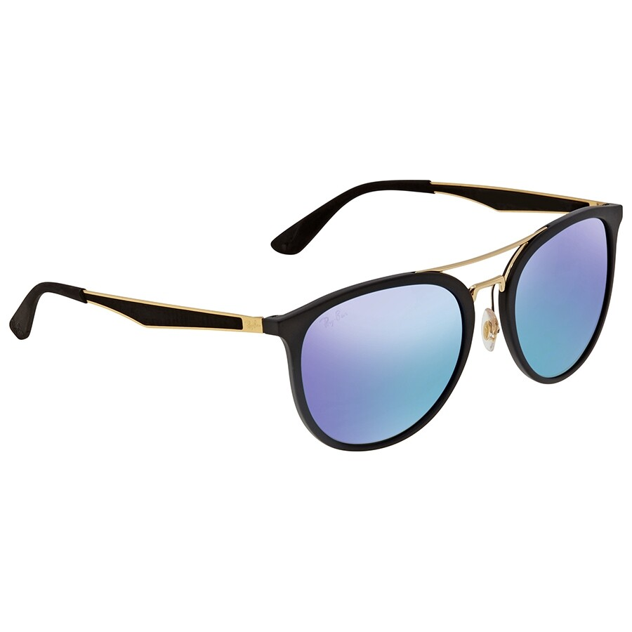 Ray Ban Blue Mirror Round Men S Sunglasses Rb4285601s5555