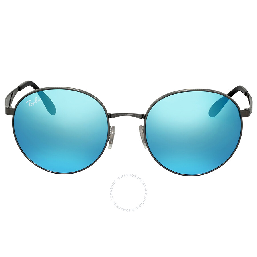 175d7079ae Ray Ban Blue Mirror Round Metal Sunglasses Item No. RB3537 004 55 51