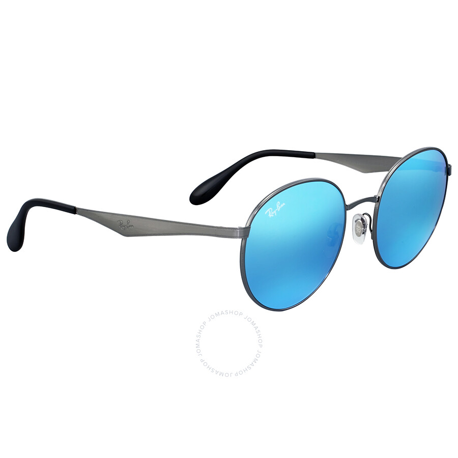 51b8a398b1 Ray Ban Blue Mirror Round Metal Sunglasses - Round - Ray-Ban ...