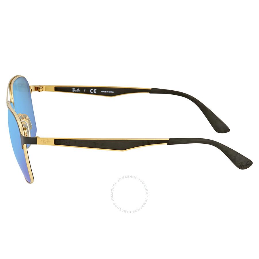 b311f44817 Ray Ban Blue Mirror Square Sunglasses RB3570 187 55 58 - Ray-Ban ...