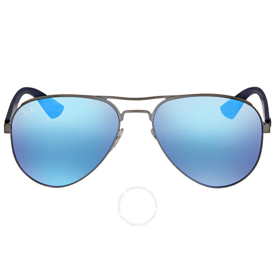a99f005211 Ray Ban Blue Mirror Sunglasses RB3523 029 55 59 - Aviator - Ray-Ban ...