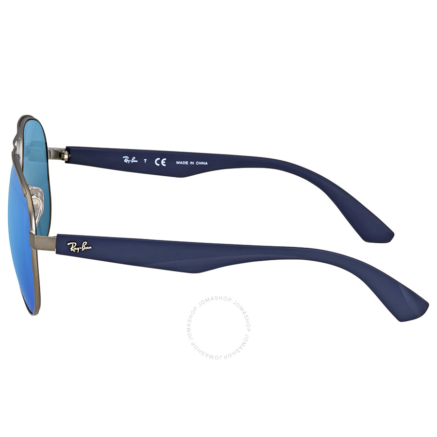 9cec3167de Ray Ban Blue Mirror Sunglasses RB3523 029 55 59 - Aviator - Ray-Ban ...