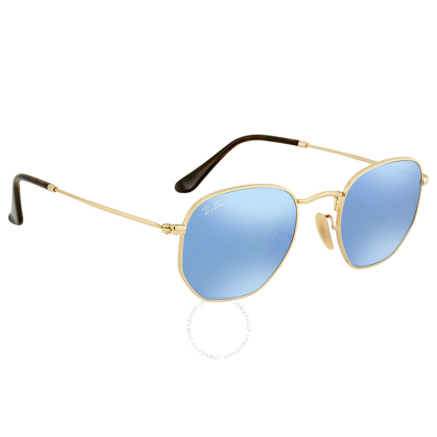 81c386c68fc55 ... Ray Ban Blue Mirrored Round Men s Sunglasses RB3548N-001 9O-48 ...