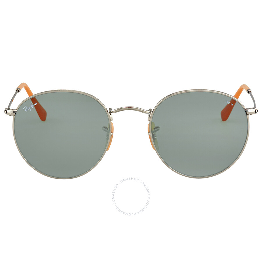 2ce0ee02e4c Ray Ban Blue Photocromic Round Sunglasses RB3447 9065I5 53 - Round ...