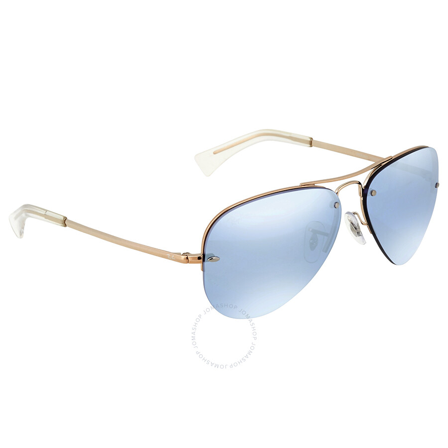 c38e52928212 Ray Ban Blue Silver Mirror Aviator Sunglasses - Aviator - Ray-Ban ...
