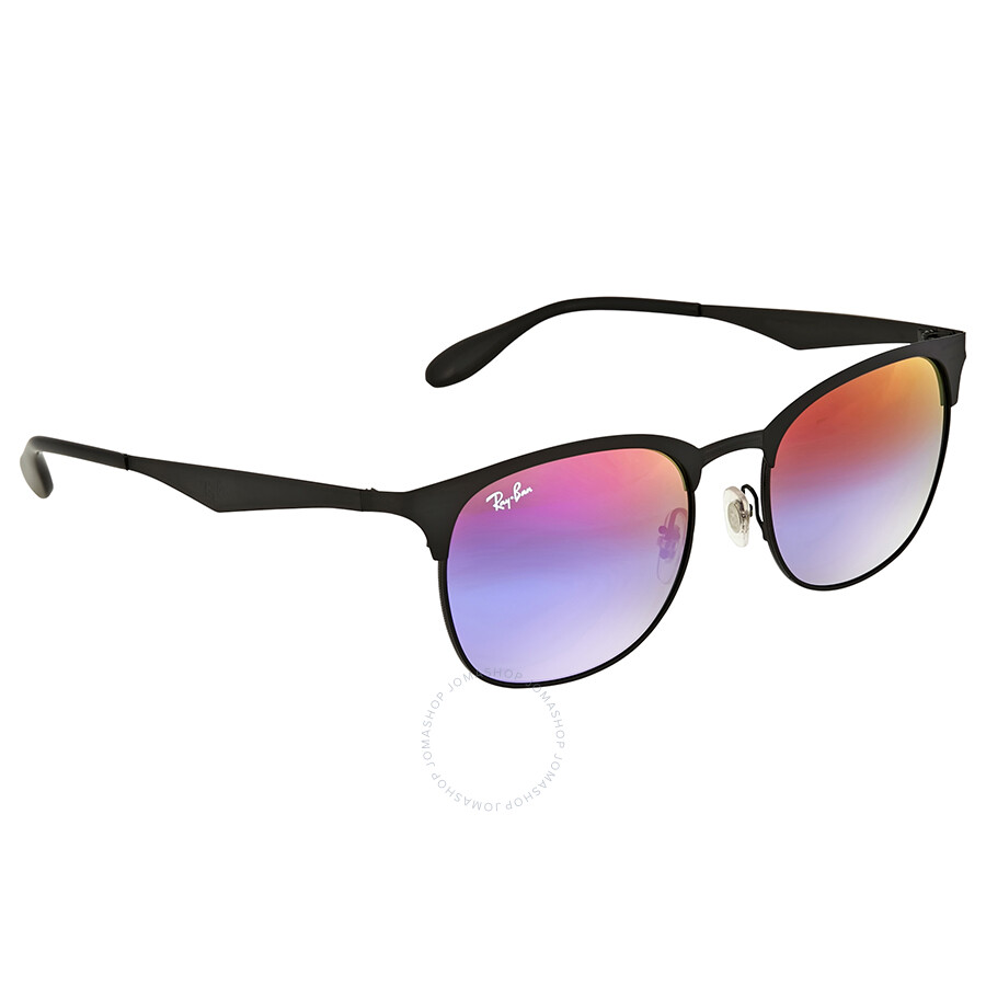 56b58b210e Ray Ban Blue Violet Gradient Mirror Metal Sunglasses - Ray-Ban ...