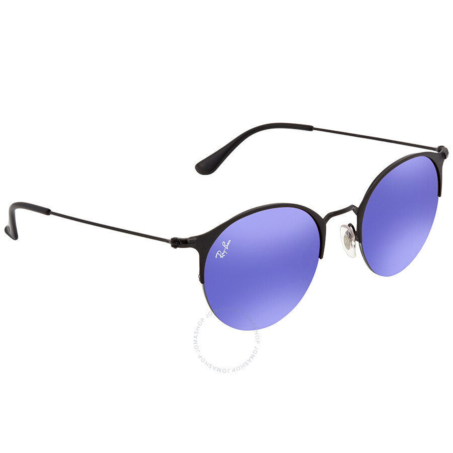 02f1418c53 Ray Ban Blue Violet Gradient Mirror Round Sunglasses RB3578 186 B1 50 ...