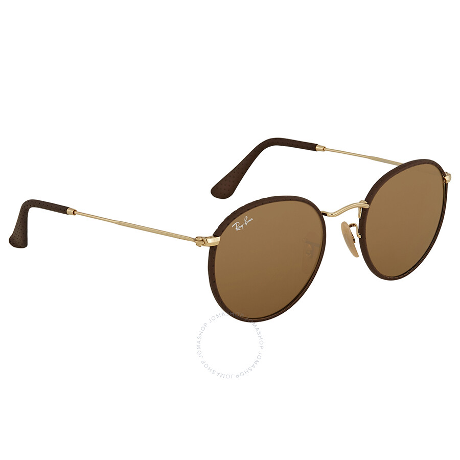 e30f877727 Ray Ban Brown Classic B-15 Round Men s Sunglasses RB3475Q 9041 50 ...