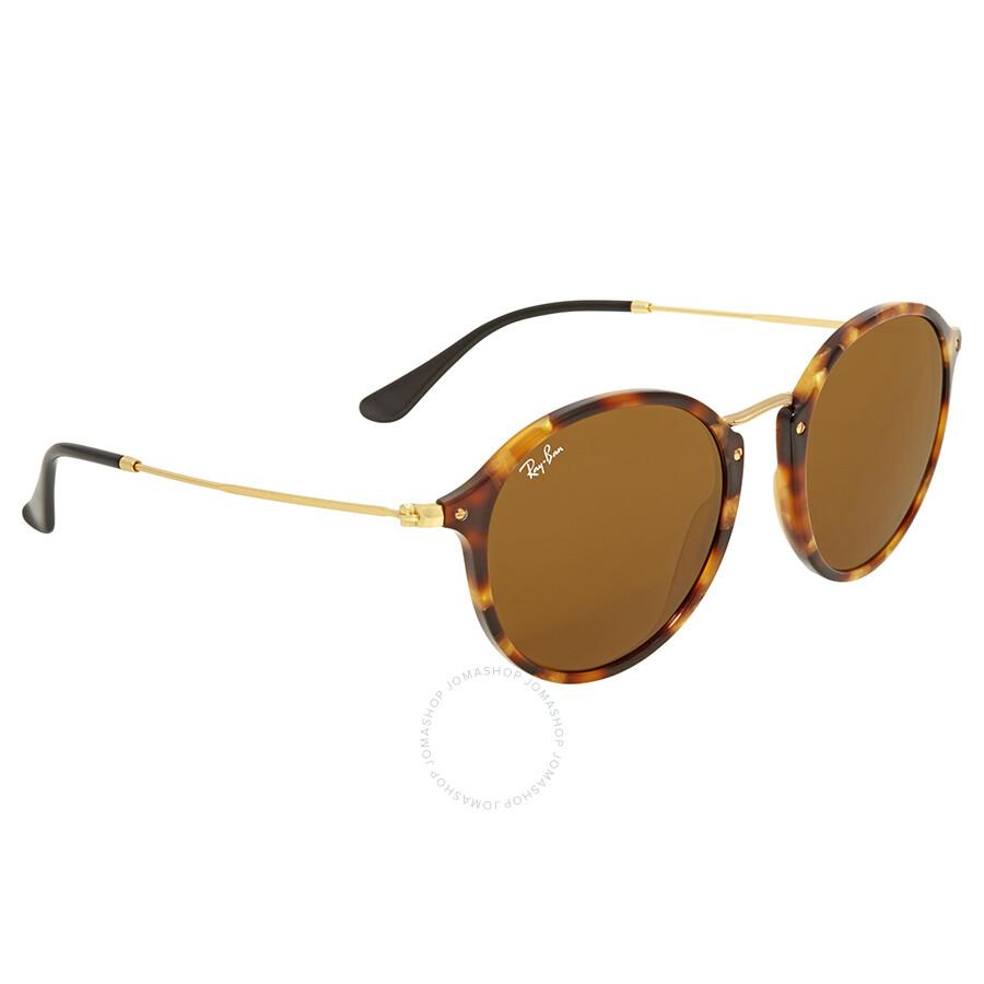 2b5b3fb55a8 Ray Ban Brown Classic B-15 Round Sunglasses RB2447 1160 52 - Round ...