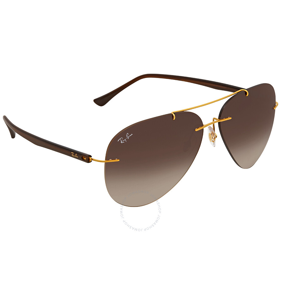 cdd6514a6d Ray Ban Brown Gradient Aviator Men s Sunglasses RB8058 157 13 59 ...
