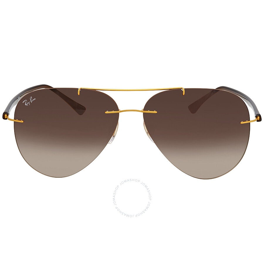 bda42995ac3 ... Ray Ban Brown Gradient Aviator Men s Sunglasses RB8058 157 13 59 ...
