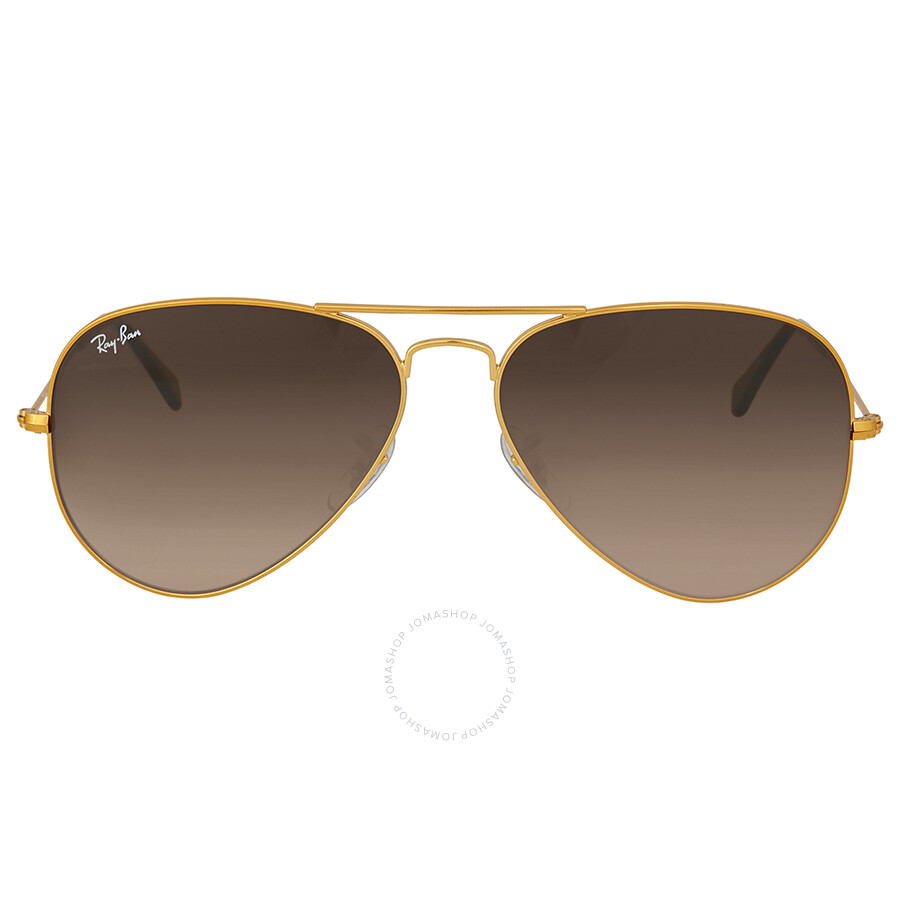 c3734b0709 Ray Ban Brown Gradient Aviator Sunglasses Item No. RB3025 9001A5 58