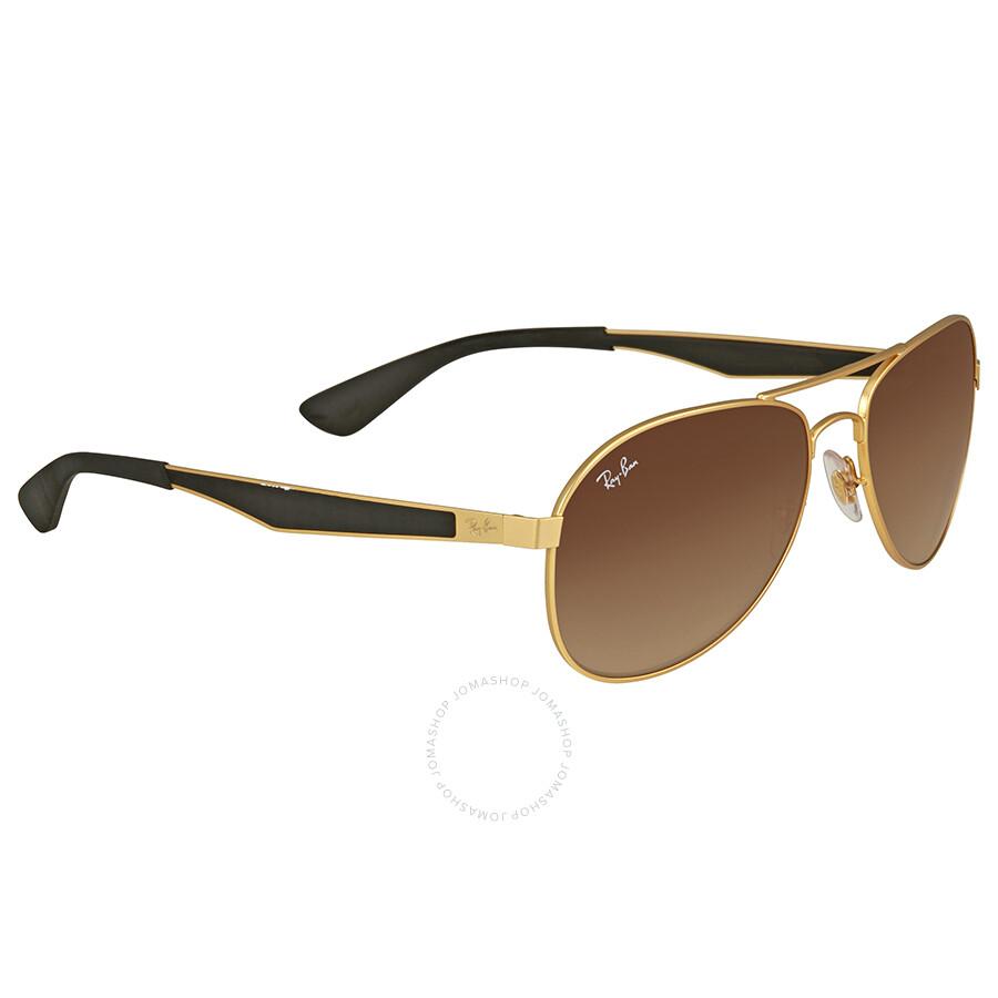 11a9ff3523f22 Ray Ban Brown Gradient Men s Sunglasses RB3549 112 13 58 - Aviator ...