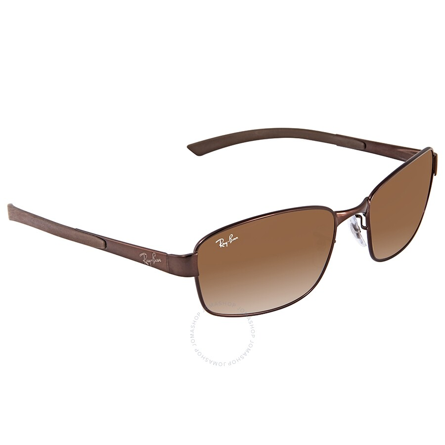 a85ac7b85c Ray Ban Brown Gradient Rectangular Sunglasses RB3413 014/51 59 - Ray ...