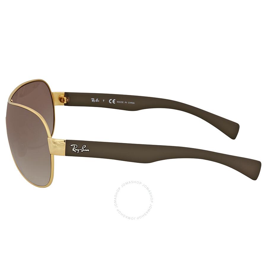 9bf6d1daa7 Ray Ban Brown Gradient Rectangular Sunglasses - Ray-Ban - Sunglasses ...