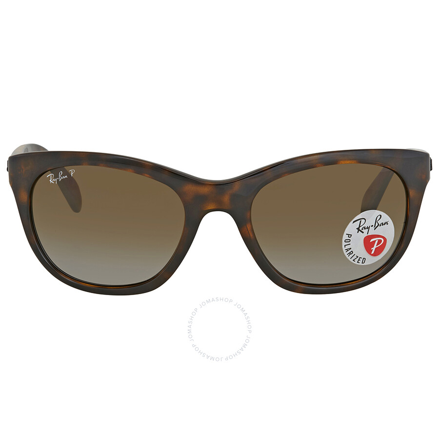 62c530c8d6 ... Ray Ban Brown Gradient Rectangular Sunglasses RB4216 710 T5 56 ...