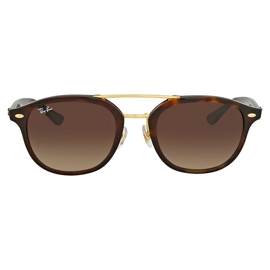 f8e4c7f08b Ray Ban Brown Gradient Square Sunglasses - Ray-Ban - Sunglasses ...