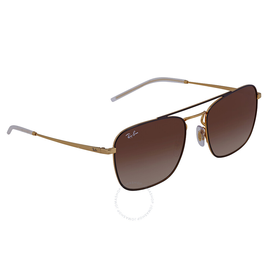 d248e610f48 Ray Ban Brown Gradient Square Sunglasses RB3588 905513 55 - Ray-Ban ...