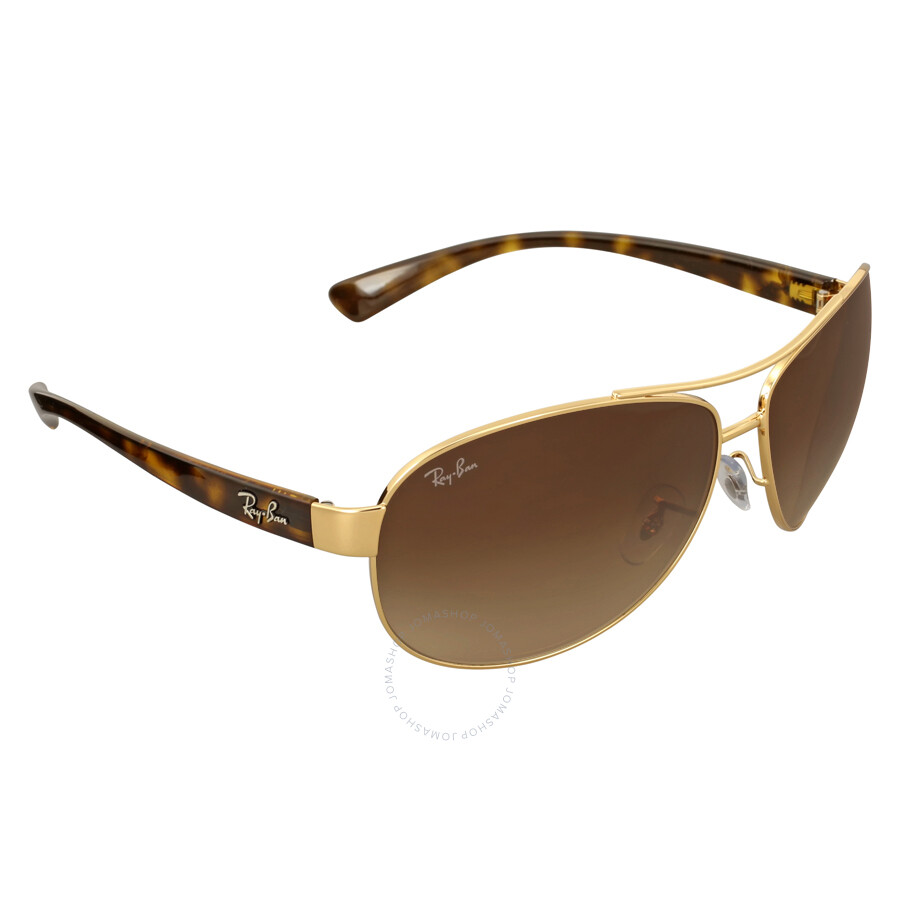 ray ban aviator gradient rb3025 yellow rose gold sunglasses arv