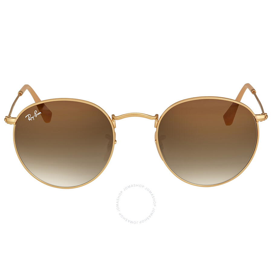 Ray Ban Brown Gradient Sunglasses RB3447 112 51 50 - Round - Ray-Ban ... 6069029fa2